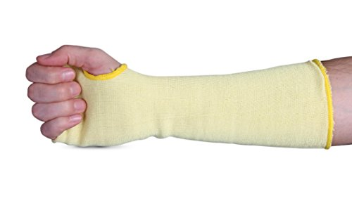 """Superior KKWC14TH Kevlar Double Folded Knit Stockinette Sleeve with Thumb Hole, 14"""" Length (Pack of 1 Pair)"""
