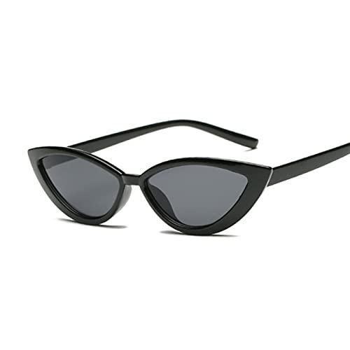 Aiong Gafas de Sol, Nuevas Gafas de Sol de Ojo de Gato Negras Vintage