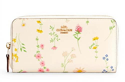 Coach Women's Patent Crossgrain Leather Accordion Zip Wallet (IM/Chalk...