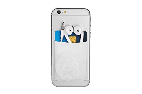Cerbery - Soporte para Tarjeta de teléfono Inteligente - Estuche Celular Auricular - Compatible con Apple iPhone Samsung Galaxy (Blanco)