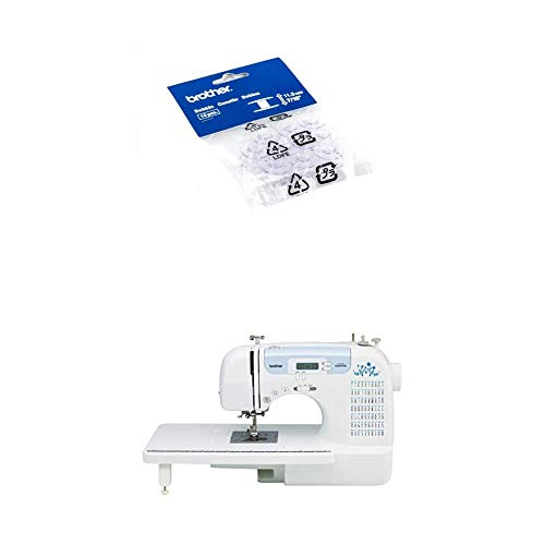 Brother Sewing and Embroidery Bobbins 10-Pack, SA156 and CS7000i Computerized Sewing Machine with 70 Built in Stitches, White