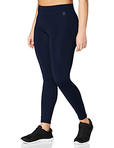 Amazon-Marke: AURIQUE Damen Sportleggings, Blau (Navy), 34, Label:XS