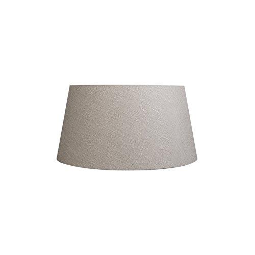 QAZQA Moderno Lino Pantalla lino gris 50/40/26, Redonda/Cónica Pantalla lámpara de pie