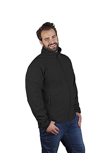 Promodoro Softshell Jacke C+ Plus Size Herren, 5XL, Schwarz