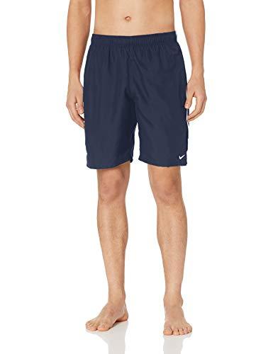 Nike Swim Men's Racer 9' Volley Short Swim Trunk, Midnight Navy White, Large