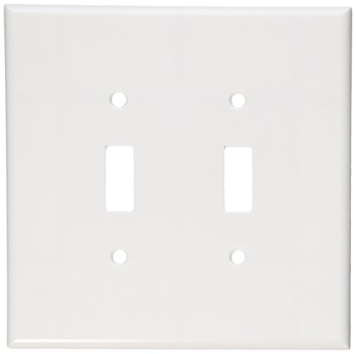 Leviton 88109 2-Gang Toggle Device Switch Wallplate, Oversized, Thermoset, Device Mount, White by Leviton
