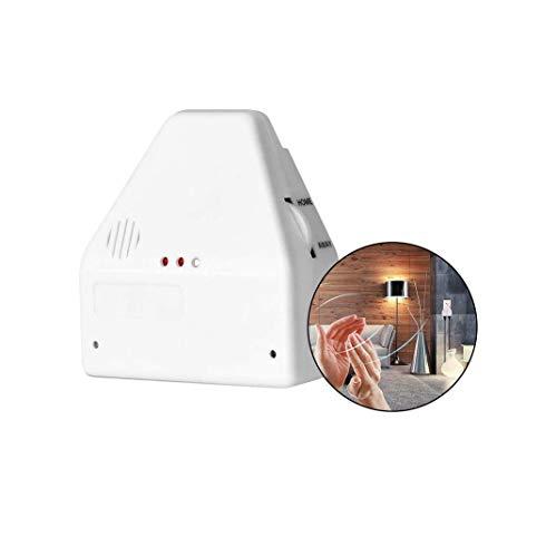 LUCKLY Der Clapper Sound Activated-Schalter, Control 2 Devices Home- oder Away-Einstellungen Neu, Clapper, Sound aktiviert, Licht-EIN/Aus-Schalter, Steckdose, Netzteil