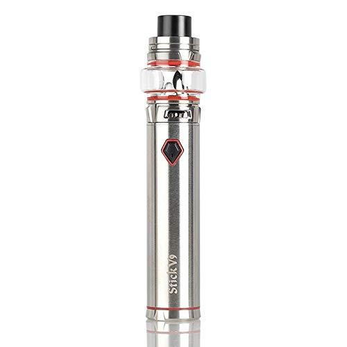 Original SMOK Stick V9 Max 60W 4000mAh Starter Kit mit 8.5ml Stick V9 Max tank E-Zigarette Verdampfer Kein Nikotin (Silber)