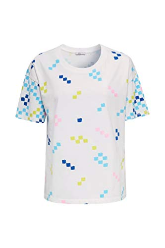 edc by Esprit 040cc1k333 T-Shirt, 100/Bianco, XL Donna