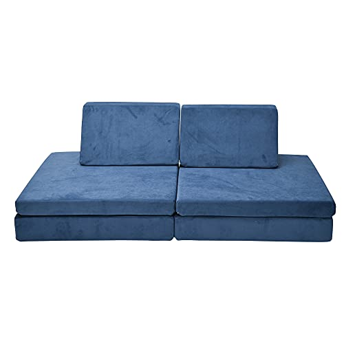 Children's Factory The Whatsit Kids Couch or 2 Chairs, Navy, CF349-070, Toddler to Teen Bedroom Furniture, Girls and Boys Playroom Sofa and Play Set