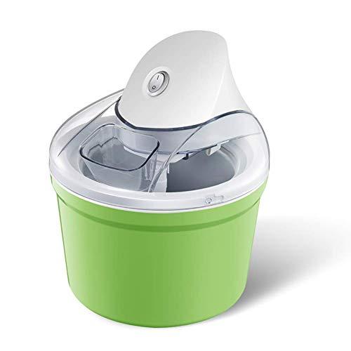 AYDQC Helado para el hogar Máquina portátil, Fabricante de Helados pequeño, Sorbete de Gelato Máquina congelada Máquina de Yogurt de Mezcla Desmontable Naranja (Color: Verde) fengong (Color : Green)