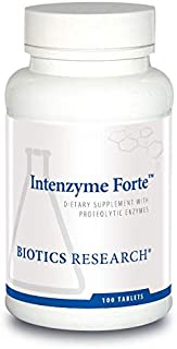 Biotics Research Intenzyme Forte™ - Proteolytic Enzymes, Pancreatin, Bromelain, Papain, Lipase, Amylase, Protein Metabolism, Supports Healthy Digestion, Immune and Circulatory Function 100 tabs