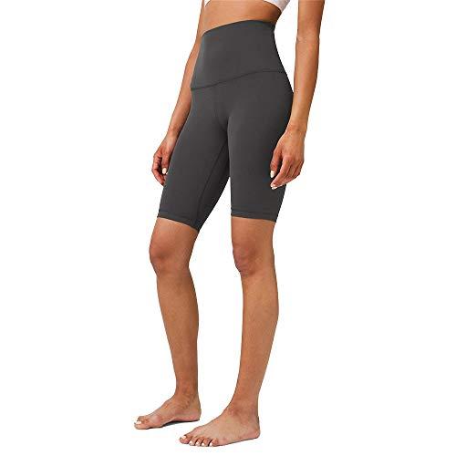 Damen Tights Shorts Sport Kurze Hosen, Frauen Sport-Shorts, hohe Taillen-Bauch-Steuer Kolben-Aufzug-dünnes Yoga Capri Over-Knee Laufhose Hot Pants Strumpfhosen Laufshorts Fitness Yoga Leggings