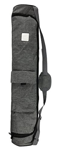 Yoga Mat Bag - Teeyar Canvas Waterproof 73cm Lengthening Carry Bag for Yoga Mat w/Pocket, Smooth Zipper, Adjustable Strap, Fits Most Yoga Mats(Yoga mat Carrier) (Grey) from Tiiyar Inc