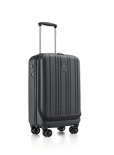 Hedgren Boarding S Hardside Spinner 4 Wheel Suitcase, Rolling Luggage with Lock, 20 Inch, Unisex, Black