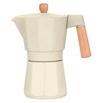 Qilo Cafetera exprés Cafetera exprés Cafetera Beige Italiana - Estilo Moka Estufa (90 ml) Size : 9cups(270ml): Amazon.es: Hogar