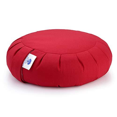 Blue Banyan Zafu Meditation Cushion (Organic Buckwheat) UK Made. Chinese Red
