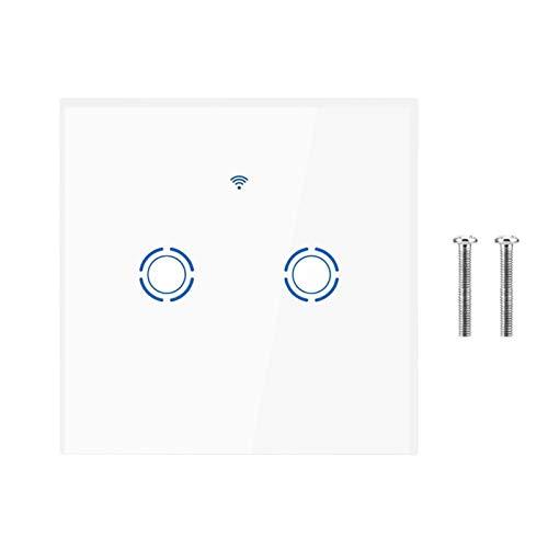 Interruptor táctil WIFI, interruptor de pantalla táctil de espera ultrafino de baja potencia, cocina de lujo para el hogar para el dormitorio, equipos electrónicos, fábricas,(2 way)