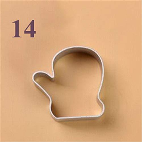 XFZDP Biscotto Stampo in Acciaio Utensili in Acciaio Muffa del Fondente Cookie Cutters Francobolli Speciali (Color : 14)
