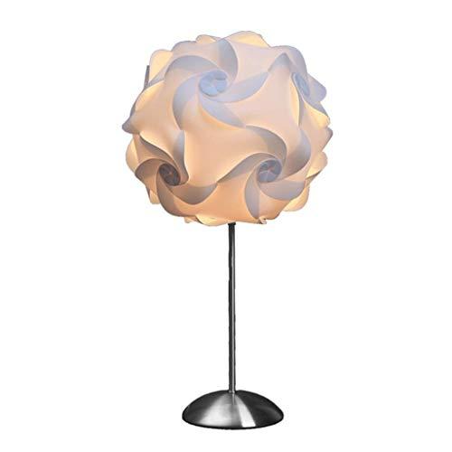 Lámpara de mesa Luz Lámparas de escritorio Luces Lámpara de mesa moderna simple Dormitorio Lámpara de noche Lámpara de mesa romántica americana Nórdica Cálida Sala de estar del hotel 26 * 20 * 12cm