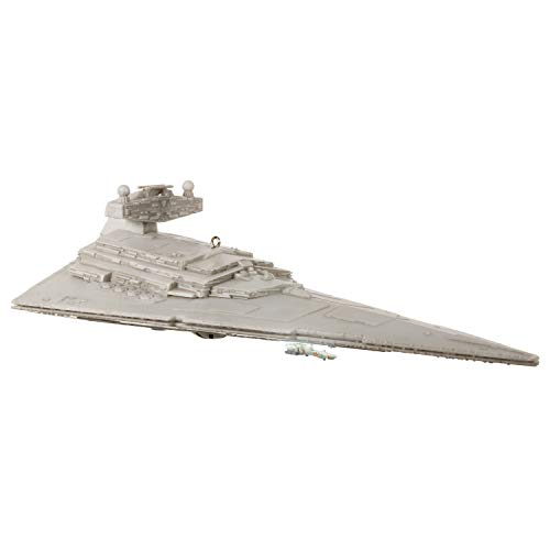 Hallmark Keepsake Christmas 2019 Year Dated Wars Imperial Star Destroyer Ornament with Light and Sound