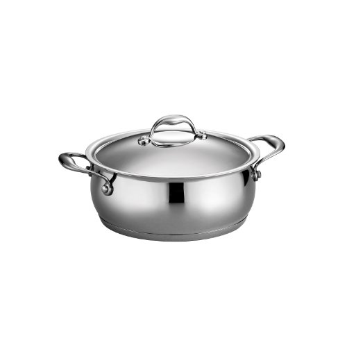 Tramontina 80102/008DS 5-qt Domus Dutch Oven, 5 Quart, 18/10 Stainless Steel