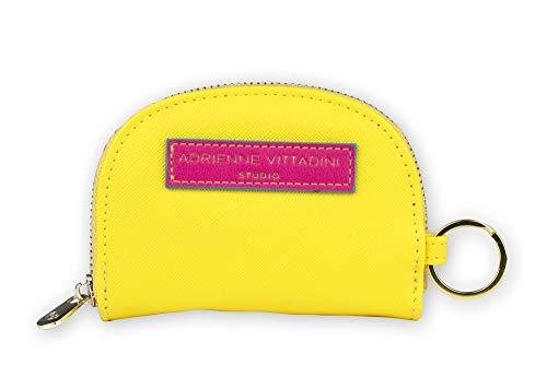 Tri-Coastal Design - Portafoglio o Portamonete Adrienne Vittadini in Eco Pelle Colorata con Dettagli a Contrasto per Donna (yellow pink)