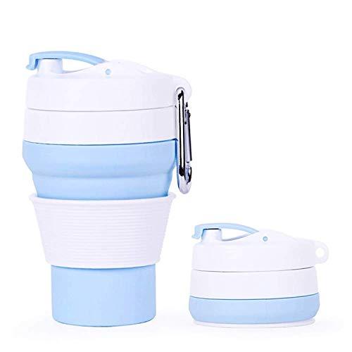 Idebirs Wiederverwendbare silikontasche Tasse tragbare kaffeetasse klappbecher Reise auslaufsicher geeignet for Outdoor Camping wandern büro zu Hause etc, 350 ml 12 unzen