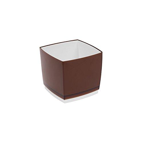Pot de fleur, cache pot Designo Cube, hauteur 13,5 cm, en bronze