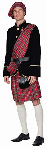 Schotte Erwachsenenkostüm 14472 | 5-Teiliges Schottenkostüm mit Jacke & Schottenrock | Herren Kostüm Schotte (50)