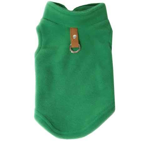 Gooby Fleece Vest for Dogs Green Medium