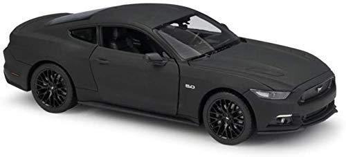 Auto-Modell im Maßstab 1:24 Ford Mustang GT Classic-Modell Auto-Metall Sport-Auto-Legierung Auto for Kind-Geschenk-Sammlung jszzz (Color : Matte Black)