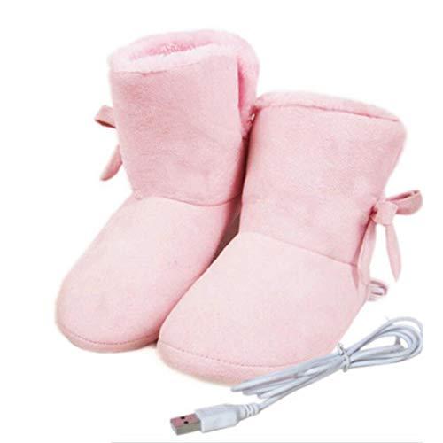 Zapatillas Con Calefacción, Calentador De Pies Con Calefacción USB, Zapatillas De Felpa Cálidas, Cómodas Botas Con Calefacción Eléctrica Para Hombres, Mujeres, Mantienen El Pie Más Caliente