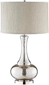 KJZhu Plata lámpara de mesa de cristal, caliente lujosa del vector de la flor de la lámpara Shop Tienda de ropa lámparas decorativas del botón del control E27 H: 67cm lámpara de mesa Lampara dormitori