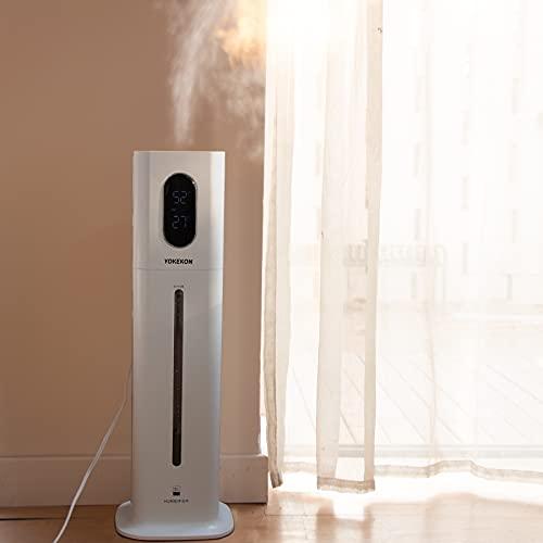 Luftbefeuchter Große Räume Schlafzimmer Top-Füllung Ultraschall Luftbefeuchter 8L mit kühlen Nebeln und Duftöl, geeignet für Baby und Kinderzimmer