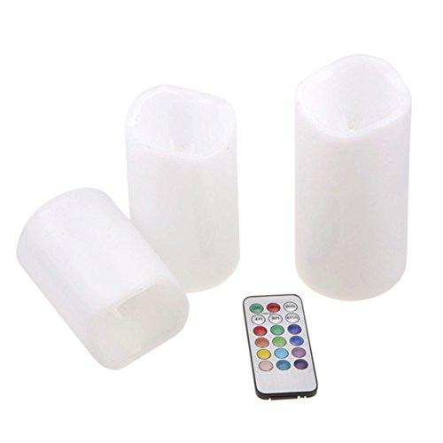 Luces LED de té de color marfil con luz de vela con cambio remoto de color creativa lámpara para el hogar dormitorio