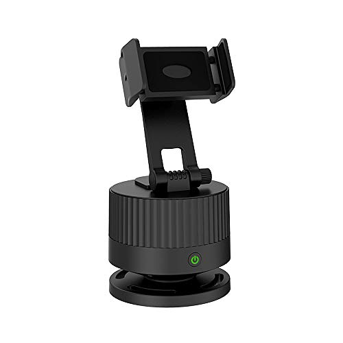 Fesjoy Dispositivo inteligente de transmisión en directo de 360°, grabación inteligente compatible con composiciones de retorno AI, pantalla vertical horizontal Negro