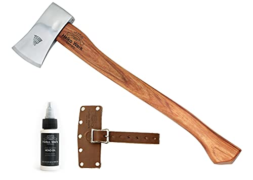 1844 Helko Werk Germany Classic Journeyman Pack Axe - Hand Forged Bushcraft Axe for Felling Hatchet and Hand Axe Made in Germany 11441