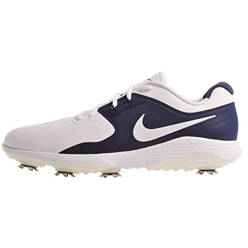 Nike Vapor Pro, Zapatillas de Golf para Hombre, Multicolor (White/Metallic White/Midnight Navy/Volt 100), 46 EU
