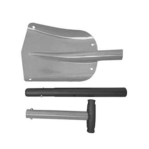 """Snow Shovel, 32"""" Folding Emergency Snow Shovel, Rugged Compact Tool for Car Snowmobiles or ATV Compact Winter Survival Gear Skiing Camping Mud Avalanche Collapsible Multifunctional (Silver)"""