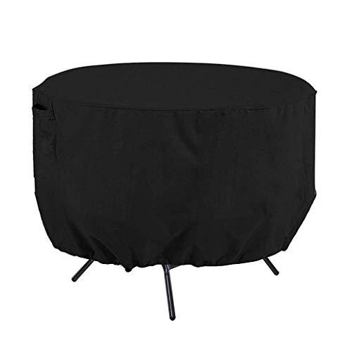 ZSML Cubierta de Muebles de Varios tamaños Negra, Cubierta de Mesa de ratán para Exteriores, Protectores de sofá Redondos rectangulares a Prueba de Agua 123X123X74CM (Tamaño: 123X123X74CM)