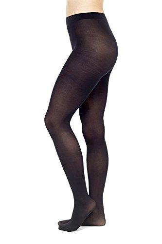 POMPEA 3 collant microfibra 50 den calze coprenti elasticizzate (4, nero)