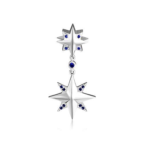 Joyería De Plata De Ley 925 para Mujer Accesorios De Estrella De Deseos Abalorios Se Ajustan A Pulseras De Pandora Europeas Collares Fabricación De Joyas De Bricolaje