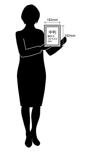 ラーソン・ジュール・ニッポンラーソン・ジュールフォトフレームジェパラA5(中判=内寸152x212mm)ハガキ用中抜きマット(窓寸94x142mm)付きホワイト182×242×21mm