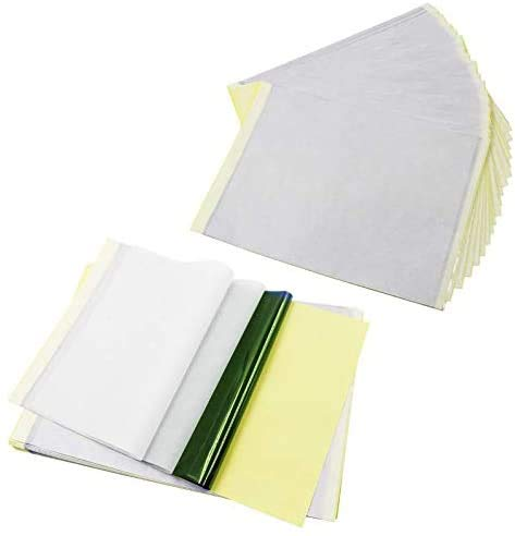 Papel de transferencia de tatuaje, Ulable aprox. 35 hojas de papel para estarcir con 4 capas (tamaño A4)