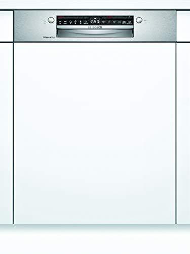 Bosch SMI4HDS52E Serie 4 - Lavavajillas semiintegrable, D, 60 cm, acero inoxidable, 84 kWh/100 ciclos, 13 MGD, SuperSilence, secado extra, cesta para cubiertos Vario, Home Connect