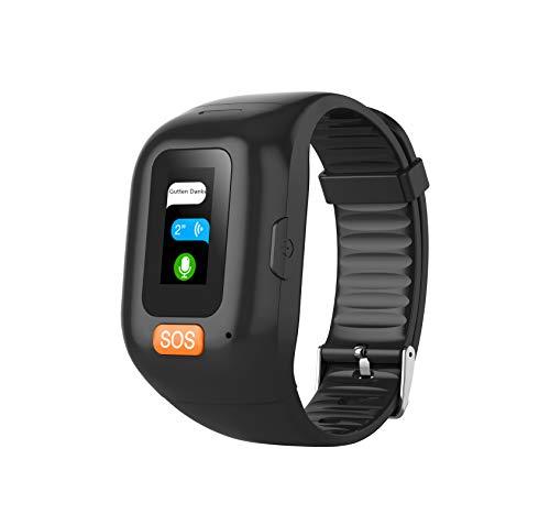 CESSBO Waterproof IP67 GPS Intelligentes Armband GPS Bracelet Heart Rate Monitor Anti-Lost GPS+LBS+WiFi Senioren SOS-Notruf Armband Mit Geo Fence Alarmfunktion Sprachchat Herzfrequenz Blutmonitor