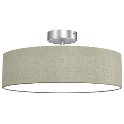 Briloner Leuchten - lámpara de techo, luz de techo 2 x E27 máx. 40 vatios, pantalla de tela, color: satén topo, diámetro de 40cm