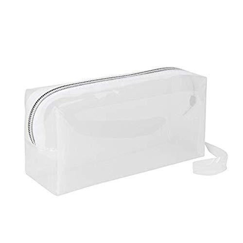 Da.Wa 1 Stück Weiße Transparente Federtasche Erhöhen Sie Die Weichplastik Bleistifttasche Student Stationery Bag