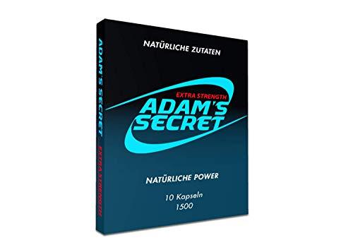 Adam's Secret 10 Kapseln - für aktive Männer - hochdosierte Formel natürliche Unterstützung